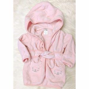 Carter's 0-9m baby pink bathrobe